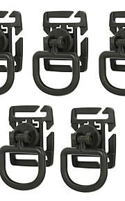 FURA Outdoor 360 Degree Rotation NylonTactical D-Ring Buckles - Black  / Green / Khaki(5 PCS)