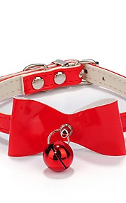 Cat / Dog Collar Cosplay / With Bell / Bandanas / Hands free / Casual Bowknot Red / Black / Pink PU Leather