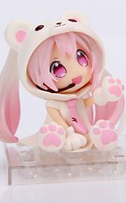 Fantasias Snow Miku PVC 14cm Figuras de Ação Anime modelo Brinquedos boneca Toy