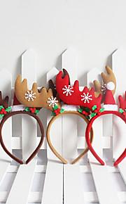 juldekorationer jul snöflingor&hjorthorn stil pannband