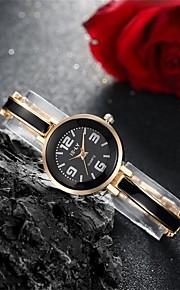 Mulheres Relógio de Moda / Bracele Relógio Quartz Impermeável Lega Banda Pendente / Casual Preta / Prata / Rosa marca