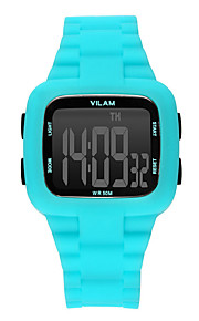 Masculino Relógio Esportivo / Relógio de Pulso Digital Impermeável / Resistente ao Choque / Colorido Plastic BandaVintage / Desenhos