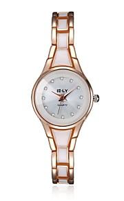 Mulheres Relógio de Moda / Bracele Relógio Quartz Impermeável Lega Banda Pendente / Casual Preta / Dourada marca