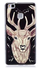 Para Fosforescente / IMD / Diseños Funda Cubierta Trasera Funda Animal Suave TPU para Huawei Huawei P9 Lite / Huawei P8 Lite