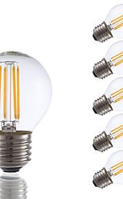 3.5 E26/E27 LED-glødepærer G16.5 4 COB 350 lm Varm hvit Dimbar AC 110-130 V 6 stk.