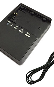 LC-E6E Battery Charger and EU Charger Cable for Canon LPE6 5D2 5D3 7D 60D 6D 70D 80D