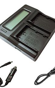 ismartdigi EL3e lcd dual oplader med bil afgift kabel til Nikon D90 D80 D300S D300 D700 D200 enel3e kamera batterys
