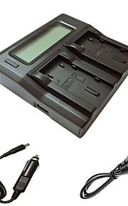 ismartdigi VF823 815 lcd dual oplader med bil afgift kabel til JVC VF823 u 815 u kamera batterys