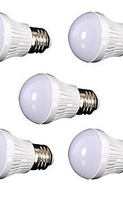 9W E26/E27 LED-globepærer 30 SMD 2835 800 lm Kjølig hvit Dekorativ AC110 V 5 stk.