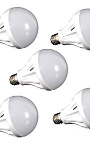 12W E26/E27 LED-globepærer 24 SMD 2835 1100 lm Kjølig hvit Dekorativ AC110 V 5 stk.