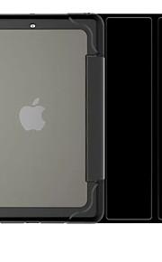 För Automatiskt sömn-/uppvakningsläge fodral Heltäckande fodral Enfärgat Hårt PU-läder för Apple iPad Mini 3/2/1