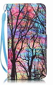 färg träd målning pu ringer fallet för Apple iTouch 5 6