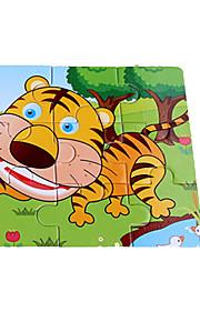 puslespil Puslespil Byggesten DIY legetøj 9 Træ Regnbue