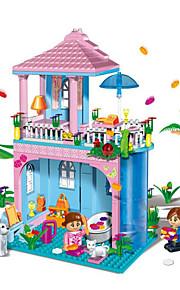 Blocos de Construir / Casa de Boneca para presente Blocos de Construir Modelo e Blocos de Construção Casa / Arquitetura ABS5 a 7 Anos / 8