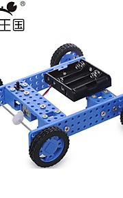 Crab Kingdom DIY Technology Production Model Hand - Assembled Toys Rubber Wheels Two Drive Car No. 32