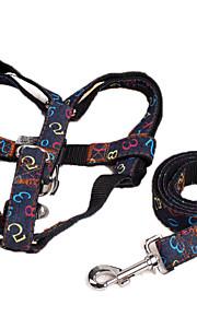 כלבים רתמות / רצועות חוזרמתכווננת דמויות Red / Black / כחול בד