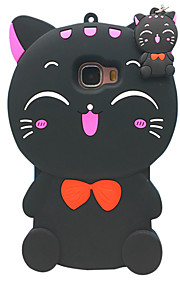 For Samsung Galaxy J7(2016) J7 Case Cover 3D Cartoon Cat Silicone Protection Back Cover Case Galaxy C5 ON7 E7