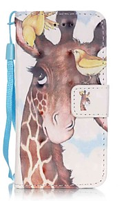 Birdie Deer 3D Painting PU Phone Case for apple iTouch 5 6