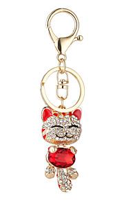 o novo ornamento set trado plutus gato lindo pingente de sorriso pingente cara do gato bolsas cadeia chave do carro