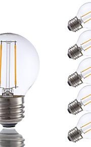 2W E26/E27 LED-glødepærer G16.5 2 COB 200 lm Varm hvit Dimbar V 6 stk.