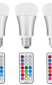 10W E26/E27 LED-globepærer A80 1 COB 1200 lm Naturlig hvit / RGB Vanntett / Dimbar / Fjernstyrt / Sensor / Dekorativ V 3 stk.
