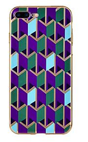 För Stötsäker fodral Skal fodral Geometriska mönster Mjukt TPU för Apple iPhone 7 Plus / iPhone 7