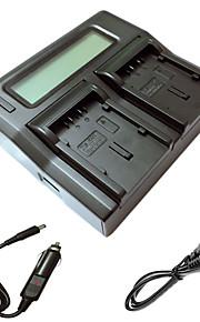 ismartdigi du21 lcd dual oplader med bil afgift kabel til panasonic gs78 gs108 gs27 gs28 GS500 DU14 du21 kamera batterys