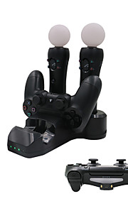 4 en 1 estación de carga para / ps controlador de movimiento / ps vr dispositivo de juego PS4