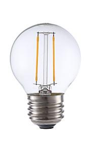2W E26/E27 LED-glødepærer G16.5 2 COB 200 lm Varm hvit Dimbar V 1 stk.