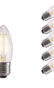 2W E26/E27 LED-glødepærer B 2 COB 250 lm Varm hvit / Kjølig hvit AC 220-240 V 6 stk.