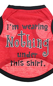 honden T-shirt / Gilet Rood Hondenkleding Zomer Britsh Modieus / Casual/Dagelijks