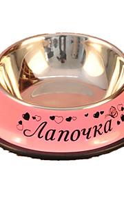 Кошка / Собака Кормушки Животные Чаши и откорма На каждый день Розовый Нержавеющая сталь