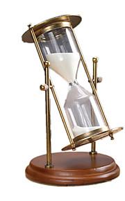 Timeglas Originalt legetøj Legetøj Metal Træ Glas Beige Ivory Fersken Til drenge Til piger 8 til 13 år