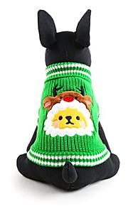 Dog Sweater Green Dog Clothes Winter Animal Cute / Fashion / Keep Warm / Christmas