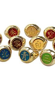 Smycken Inspirerad av Dragon Ball Cosplay Animé Cosplay Accessoarer Ring Röd Gul Blå Grön Legering Man Kvinna