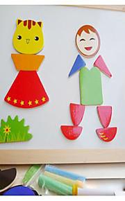 puslespil Pædagogisk legetøj Puslespil Byggesten DIY legetøj Firkantet 1 Træ Regnbue Hobbylegetøj