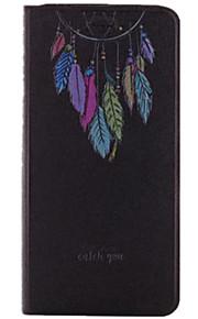 Für Kreditkartenfächer / mit Halterung / Flipbare Hülle Hülle Handyhülle für das ganze Handy Hülle Einheitliche Farbe Hart PU - Leder für