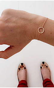 Circle Bracelet Chain Bracelet Alloy Fashion / Bohemia Style Daily / Casual Jewelry Gift Gold / Silver1pc (167cm)