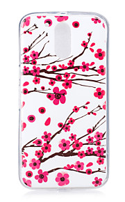 For Motorola MOTO G4 Case Cover Plum Pattern Luminous TPU Material IMD Process Soft Phone Case