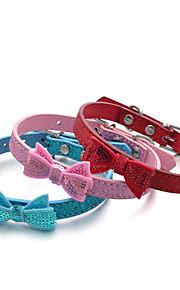 Kediler / Köpekler Yakalar Ayarlanabilir/İçeri Çekilebilir / Elyapımı / Payetler Tek Renk / Fiyonk Düğüm / Doğa ve Manzara / Yapay Elmas