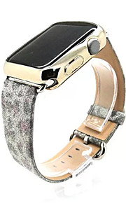 Weihnachten glänzende Bandarmbanduhr Armband Armband Ledergürtel iwatch für 42mm Apfel Uhr 38mm Glitter Macht echt
