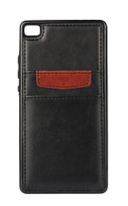 Per Porta-carte di credito / Resistente agli urti Custodia Custodia posteriore Custodia Tinta unita Morbido Similpelle per HuaweiHuawei
