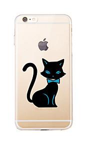 Para Transparente / Diseños Funda Cubierta Trasera Funda Gato Suave TPU para AppleiPhone 7 Plus / iPhone 7 / iPhone 6s Plus/6 Plus /