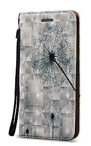 Для Кошелек / Бумажник для карт / Флип Кейс для Чехол Кейс для Одуванчик Твердый Искусственная кожа для SamsungS7 edge / S7 / S6 edge