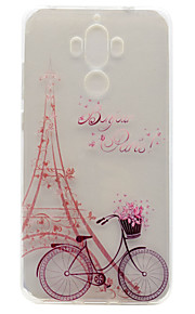 For Huawei P9 Plus P9 Lite P9 P8 Lite Y5 II Honor V8 Honor 8 Y600 Nova Mate 9 TPU Material Tower Bicycle Pattern Painted Relief Phone Case