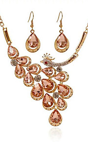 May polly  Fashion peacock Phoenix Necklace Earrings Set