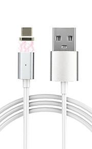 Tipo C A calamita Cavi Per Samsung / Huawei / HTC / LG / Xiaomi 100 cm PVC / Alluminio