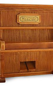 Creative Retro Wooden Crafts Phonograph/Simulated Piano Music Box/Wooden Music Box