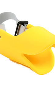 Dog Muzzle Anti Bark Solid Yellow Silicone