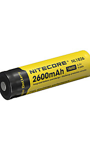 nitecore nl1826의 2600mah 3.7의 9.6wh 18650 리튬 이온 충전지